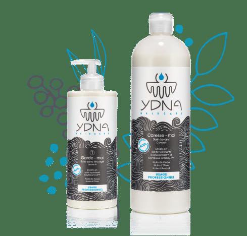 visuel des produits pour les cheveux soin ydna