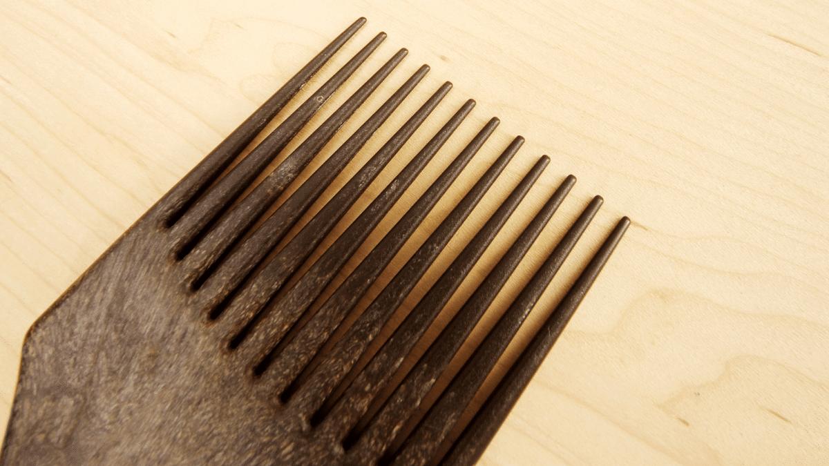 brosse pour cheveux afro et peigne