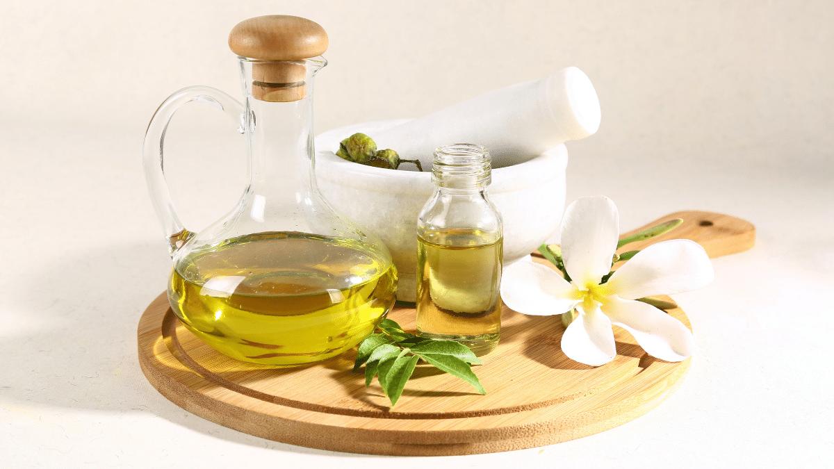 Huiles végétales naturelles soin cheveux bain huiles